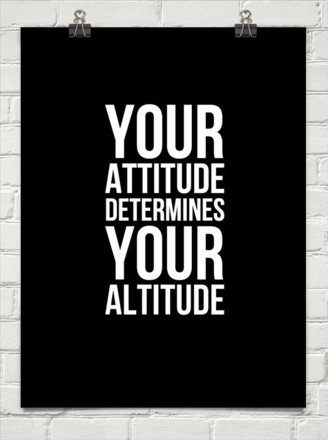 your attitude determines your altitude - Google Search