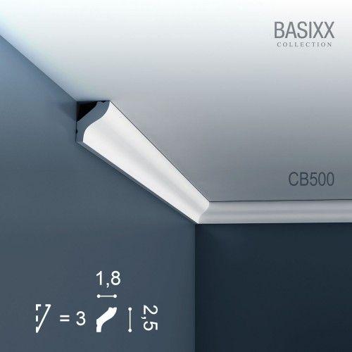 Corniche Moulure Cimaise Décoration de stuc Orac Decor CB500 BASIXX Profil décoratif du mur   2 m  – Bild 1