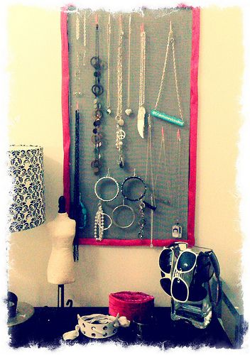 Make your own jewelry organizer with tips from Domestic Diva  #Walmart Mom, Heather.