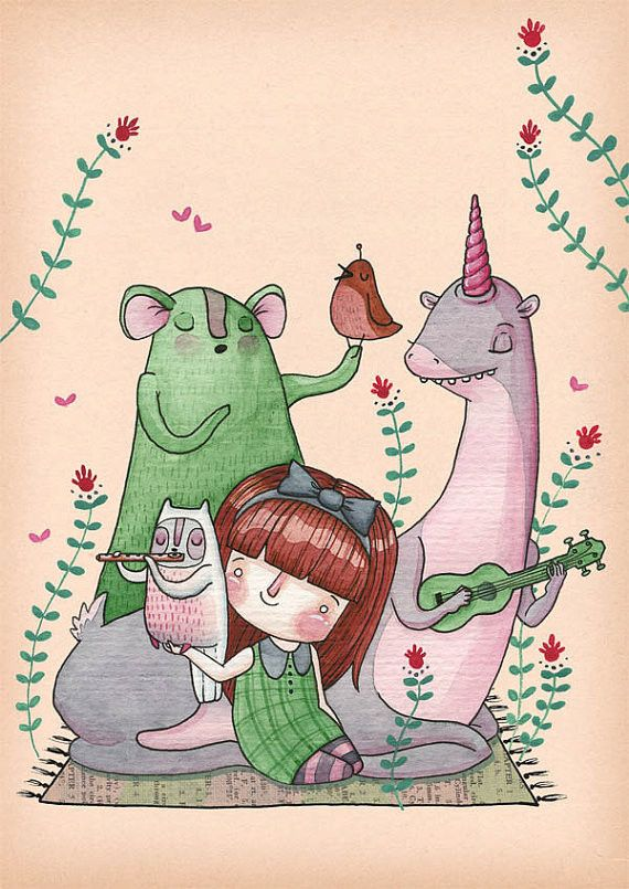 Hannakin - Afternoon Song A4 Print - Hugs For Kids