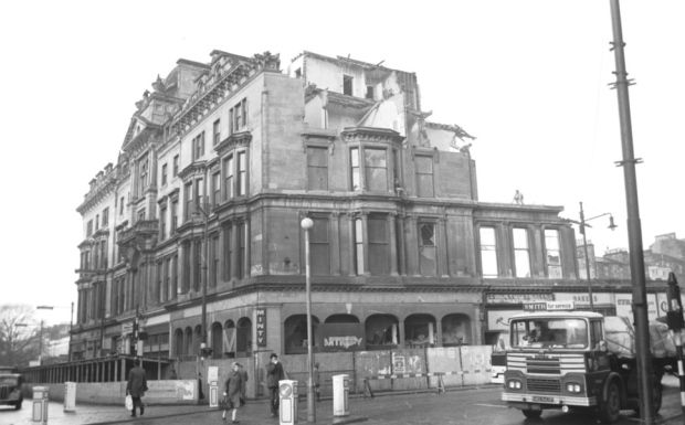 The Grand Hotel at Charing Cross is demolished in February 1969. Picture: Alan Milligan