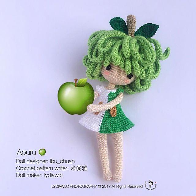 I ❤️ Apuru Doll designer: @ibu_chuan Crochet pattern writer: @mimiaixia Doll maker: lydiawlc ~ me me me Note: No crochet pattern for sell