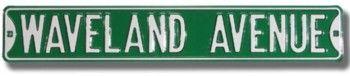 Wrigley Field 'Waveland Avenue' Stadium Authentic Street Sign by Nostalgic Image   Sports World Chicago $34.95