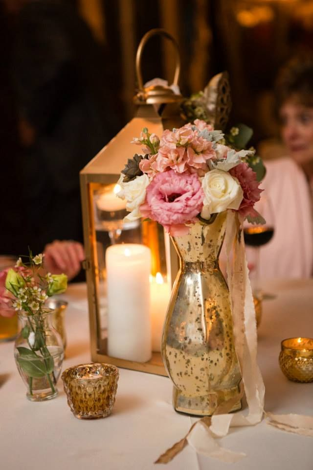 #bloominbouquets #sweetwaterbrewingcompany #bridesmaidsbouquet #succulent #davidaustinrose #whiterose #peachstock #pinklisianthus #dustymiller #goldlantern #goldmercuryglass: