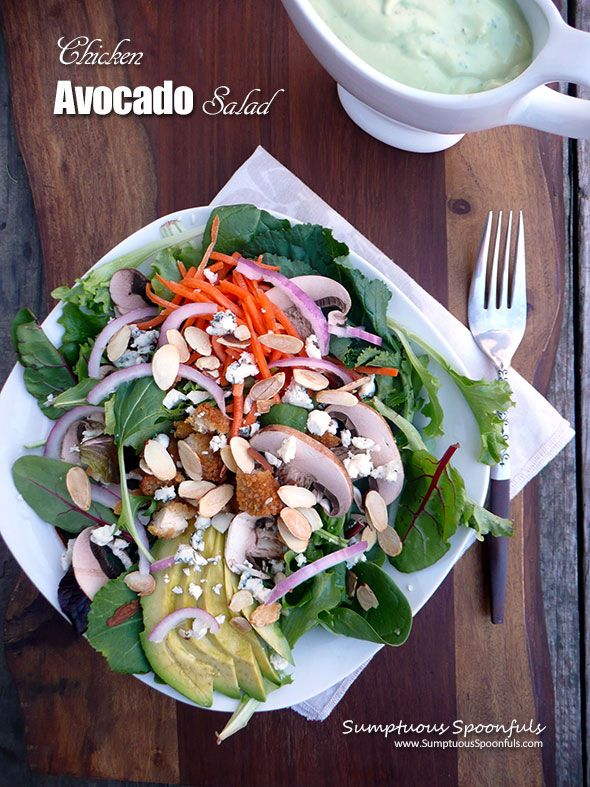 Chicken avocado salad, Avocado salads and Dinner salad recipes on ...