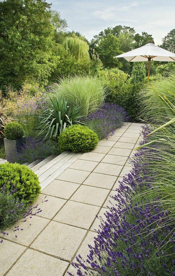 77 best exterior images on pinterest for Ornamental grass border design
