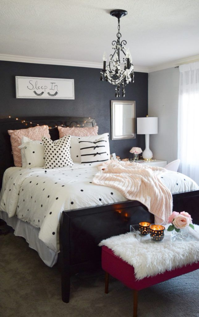 Blush, black and white! A classic and on-trend combination! Create a plush and cozy bed for yourself with essentials from HomeGoods. Sponsored Pin.