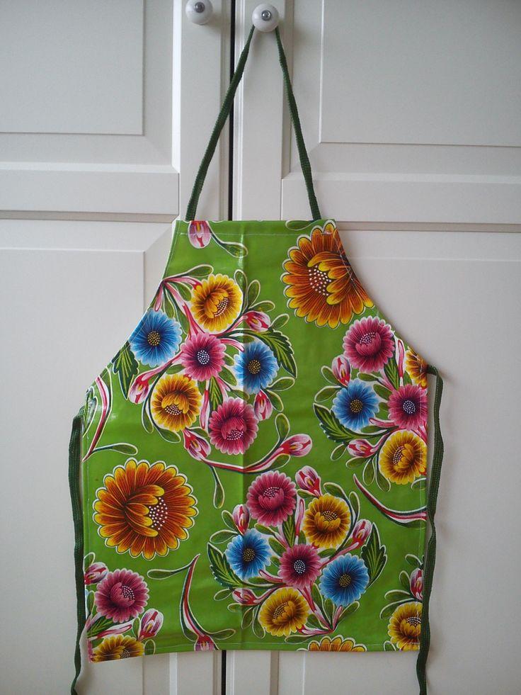 #groen #bloemen #kookschort voor #peuters en #kleuters, #bakschort, #kliederschort, #keukenschort, #kids