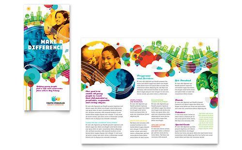 Youth Program - Tri Fold Brochure Template Design Sample