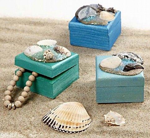 Doosjes versieren - decorate a wooden box
