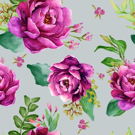 Pink Sunrise - Grey Blue fabric by shopcabin on Spoonflower - custom fabric