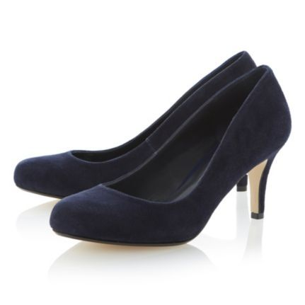 DUNE LADIES Blue AMELIA - Mid Heel Court Shoe By Dune Shoes Online #dune #dunelondon #work #office #business #shoes #courts #pumps #heels #suede #navy #blue #fashion #style