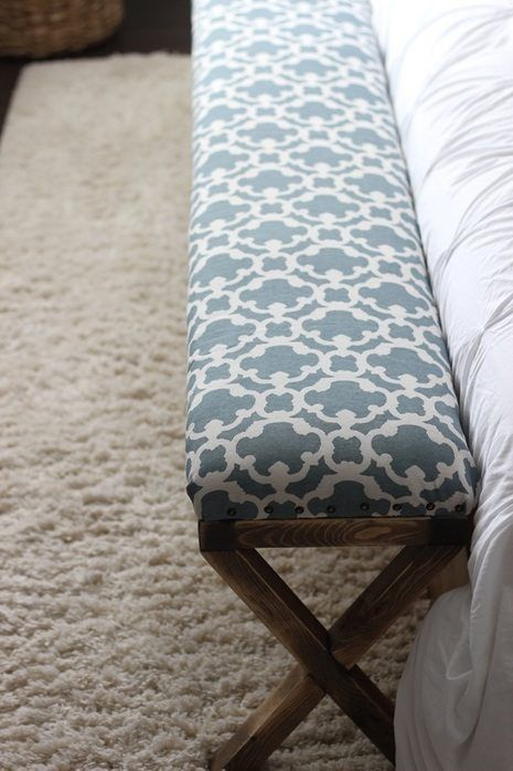 DIY Upholstered Bench at the Foot of the Bed
