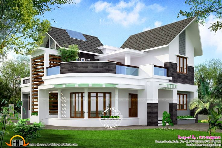 Modern unique 3 bedroom house design ground floor2 for Custom modern home plans