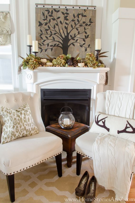 Fall home tour fall decorating ideas fall mantels fall for Fall home decor