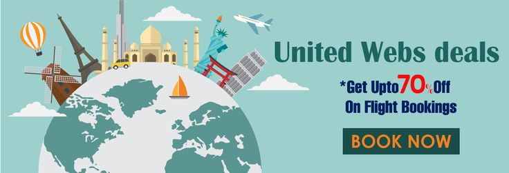Book your cheap United Airlines flight and get discount upto 70% on your United Airlines reservation at Unitedwebsdeals. Call Now-1-866-883-5430!!