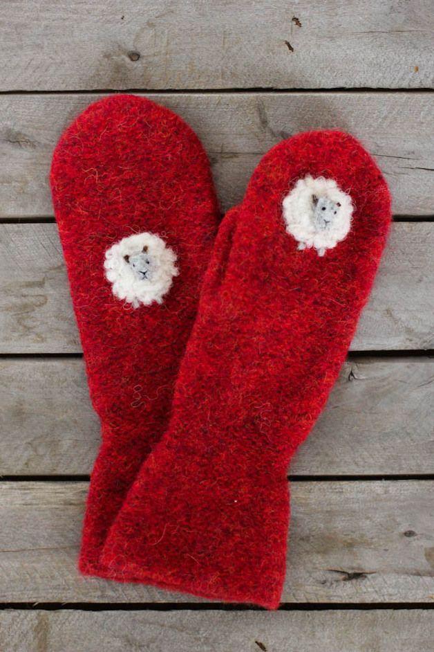 via en.dawanda.com Gloves – Felted Wool Mittens – a unique product by SundayCreations on DaWanda