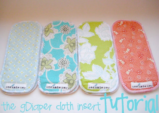 Cloth diaper insert tutorial.