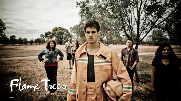 """""""Flame Trees"""" - new play by Wayne Tunks.  Opens on March 6th, 2013.  Directed by Perri Cummings and stars Sarah Berryman, Matthew Candeland, Hannah Gott, Sally McLean, Wayne Tunks and Neighbours star and Logie nominee, James Mason. https://www.facebook.com/flametreesbywaynetunks"""