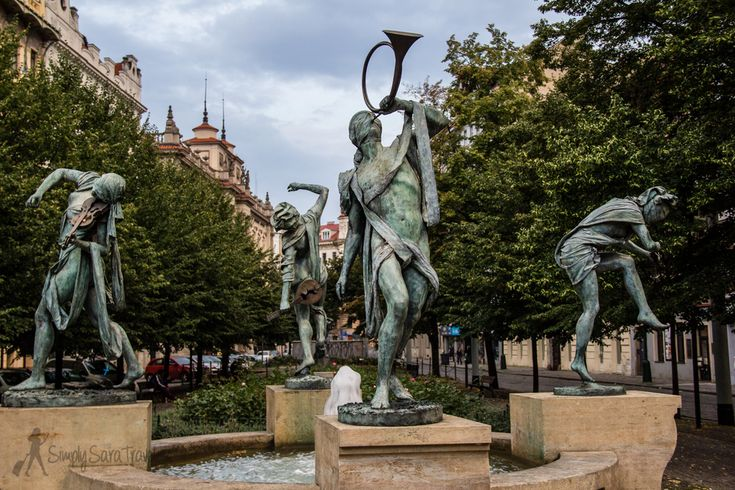 "The ""Czech musicians"" fountain in Prague - each musician represents a major river of the world."