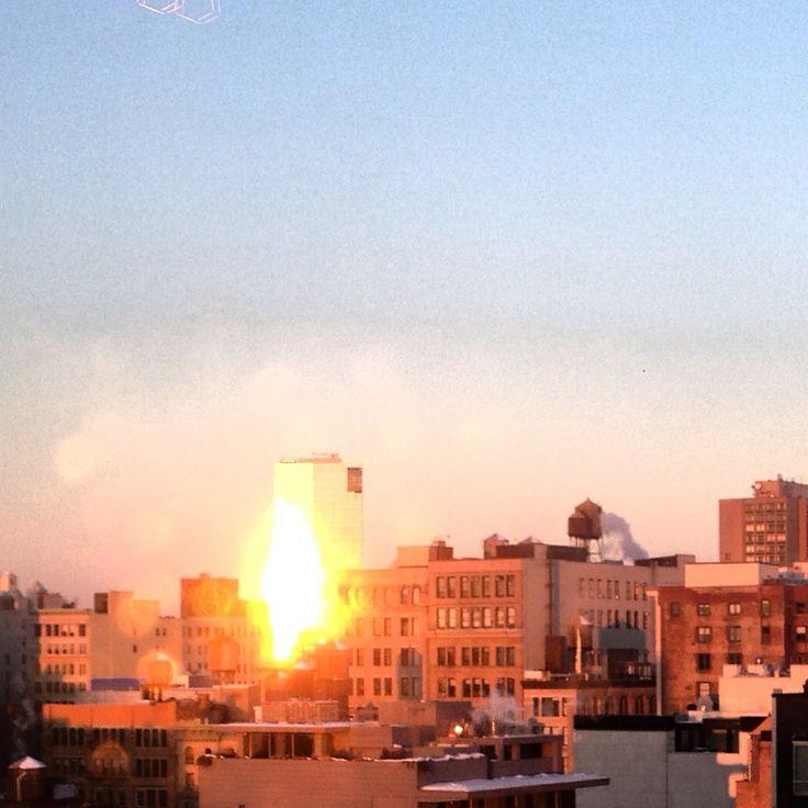 Amazing dawn in NY , january 2014