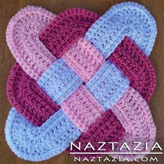 Free Pattern - Crochet Celtic Weaved Hotpad Potholder