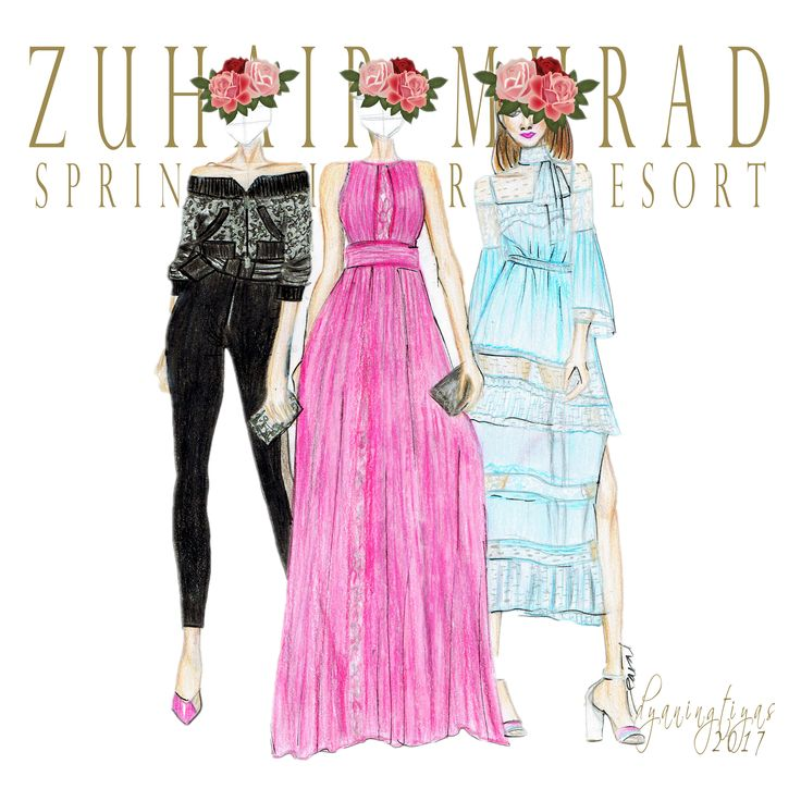 Zuhair Murad Collection illustration by swidyaningtiyas
