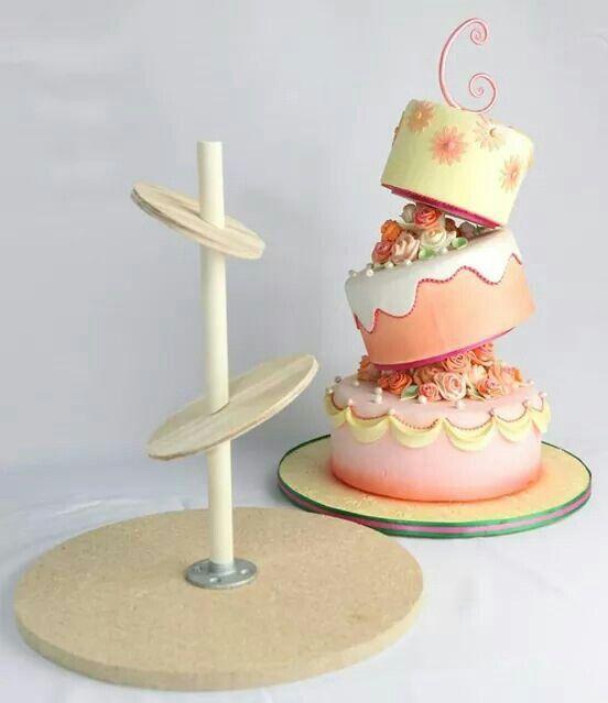 Diy Topsy Turvy Cake Stand