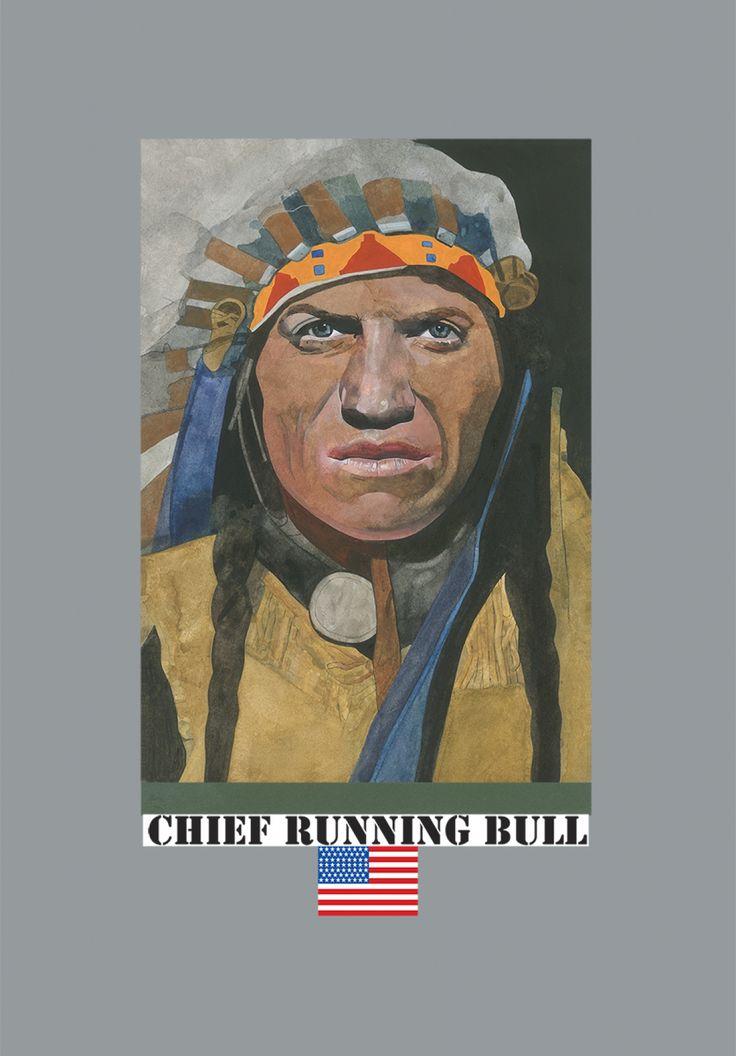 Chief Running Bull by Peter Blake