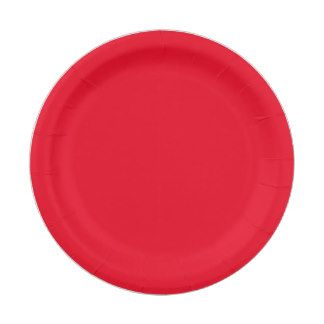Custom Red Paper Plate 7 Inch Paper Plate
