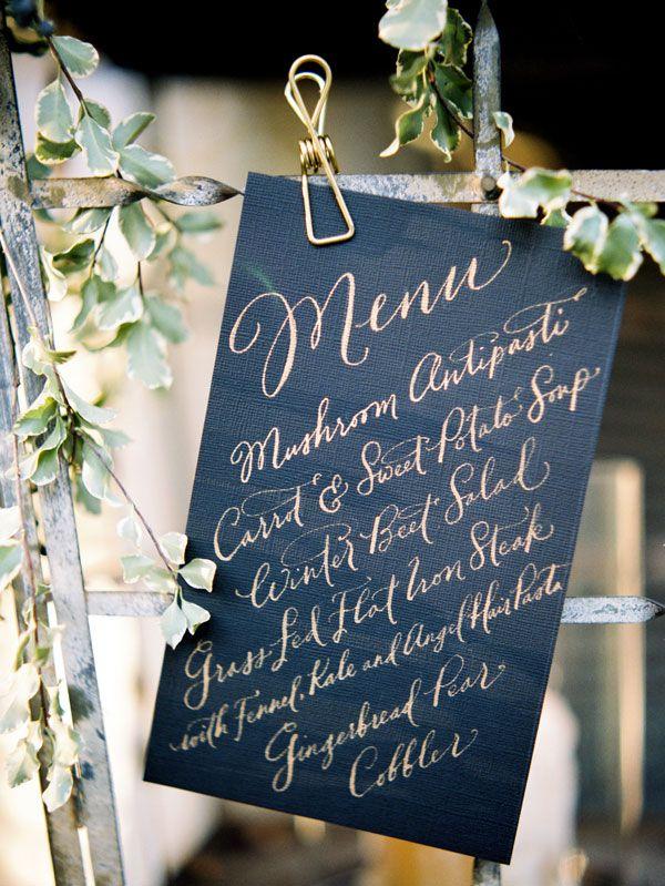 Gold and black #menu
