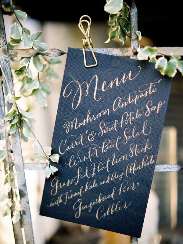 Menu lettered by Paperfinger