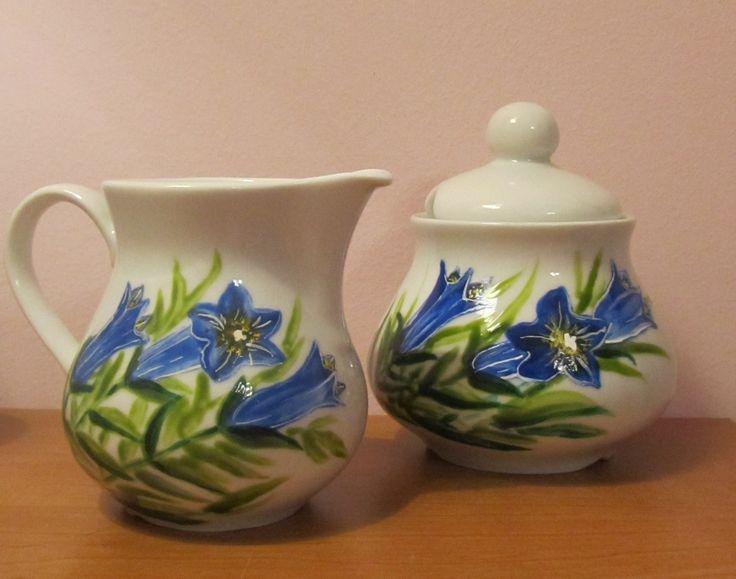 Ręcznie malowana porcelana- goryczki
