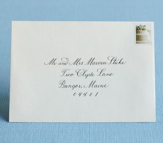Etiquette Addressing Wedding Invitations: The 25+ Best How To Address Envelopes Ideas On Pinterest