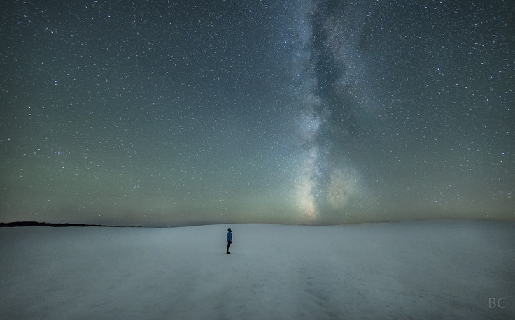 Self-portrait of photographer Ben Canales (and the Milky Way) on Oregon's South Sister