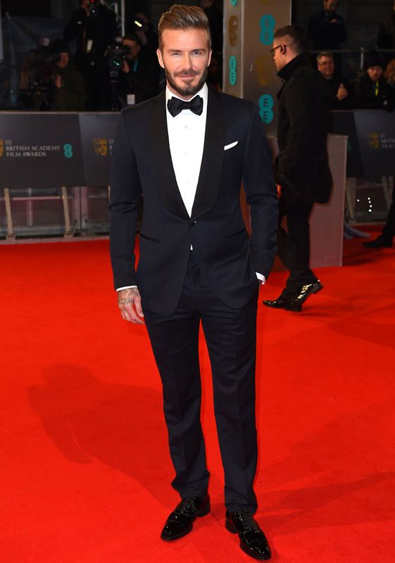 La elegancia masculina corrió a cargo de David Beckham y su esmoquin.