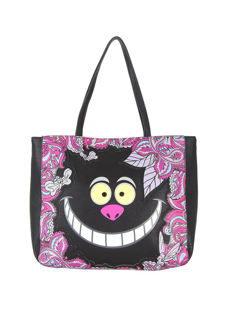 Disney Alice In Wonderland Cheshire Cat Large Face Tote Bag by Loungefly