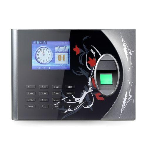 Biometric Fingerprint Password Attendance Machine Employee Checking-in Recorder 2.4 inch TFT LCD Screen DC 5V Time Attendance Clock