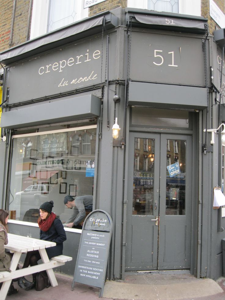 Creperie du Monde | London - Creperie Du Monde is an atmospheric little cafe located right in the heart of Clapton's coolest weekend spot, Chatsworth Road. Set inside a shop front with lofty ceilings, mismatched furniture, exposed brick and a shabby chic feel, it is the perfect spot to lounge with the weekend papers and watch the world go by. On sunny days you can sit outside.