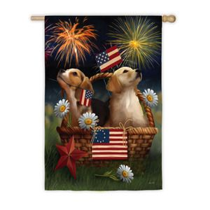 Yankee Doodle Dog Garden Flag Patriotic Of July A Mini Yard Flag Perfect  For Summer Parties U0026 Holidays, The Banner Is Generously Sized U0026 Will Last  For Years ...