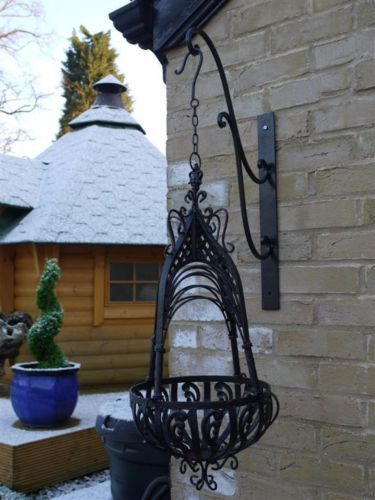 Details About Vintage Style Ornate Black Wrought Iron