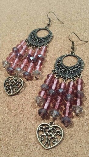 Rosie pink chandelier earrings