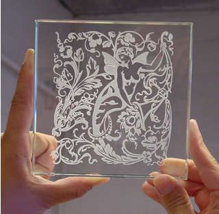 Gorgeous glass etching, plus a basic tute on how to do it :)