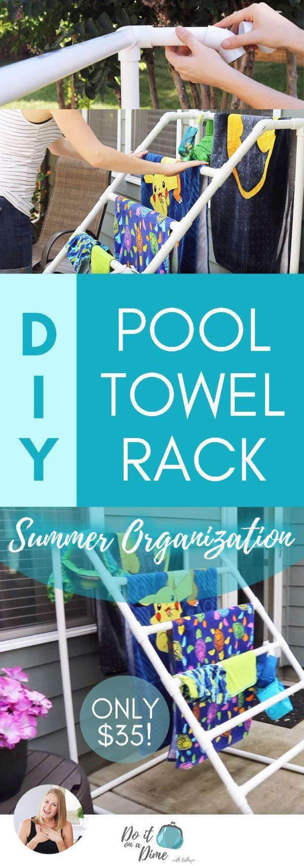 #towelrack #$300 #POOL #TOWEL  $300 POOL TOWEL RACK FOR JUST $35! | Summer Organ…