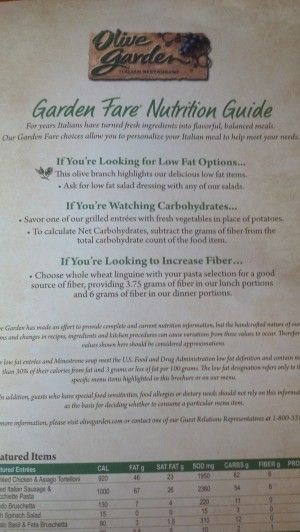 low carb olive garden