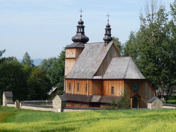Nowy Sącz- skansen ,kościół z Łososiny