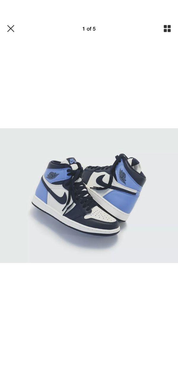 Ds Nike Air Jordan 1 Retro High Og Gs Size 6 5 Obsidian Unc Blue