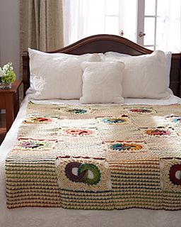 Celebrate love with this classic wedding ring blanket with a colorful twist!