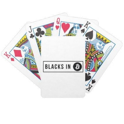 Black in Bitcoin Logo Bicycle Playing Cards - logo gifts art unique customize personalize
