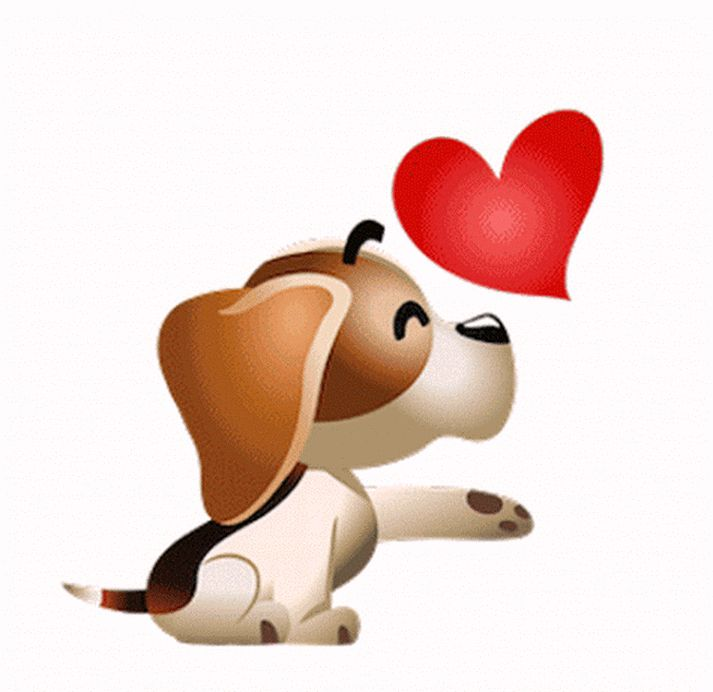 когда картинки собачек с сердечком дизайн классики